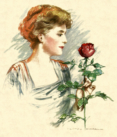 woman with rose #1